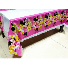Plastic Tablecover, 108 x 180cm, Minnie Mouse