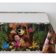 Plastic Tablecover, 108 x 180cm, Masha and the Bear