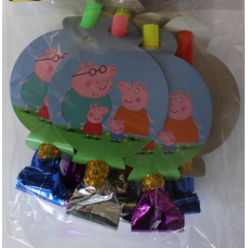 Party Whistle 6pcs, Peppa Pig
