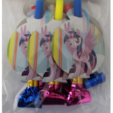 Party Whistle 6pcs, My Little Pony