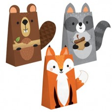 Woodland Animals Treat Bags - 20.3cm x 11.4cm x 8.3cm - 8pcs
