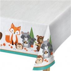 Woodland Animals Plastic Tablecover - 1.37m x 2.59m