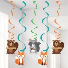 Woodland Animals Hanging Swirls - 99cm - 5 pcs
