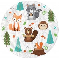 Woodland Animals Paper Plates - 18cm - 8pcs